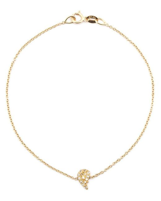 Loree Rodkin | Metallic Diamond Broken Heart Charm Bracelet | Lyst