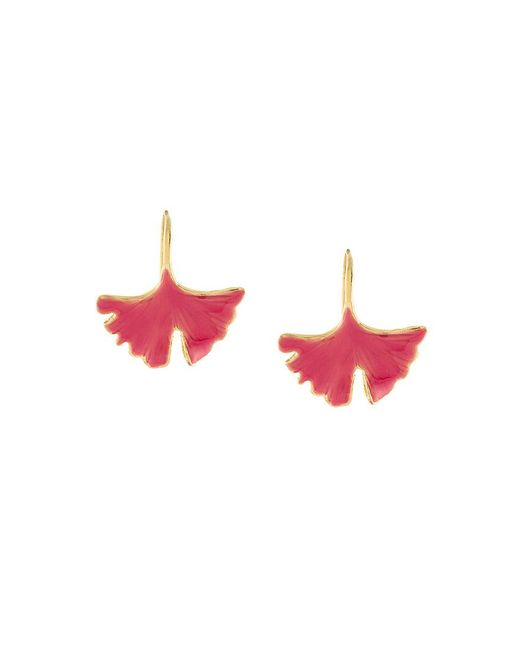 Aurelie Bidermann | Multicolor Ginkgo Leaf Tangerine Earrings | Lyst