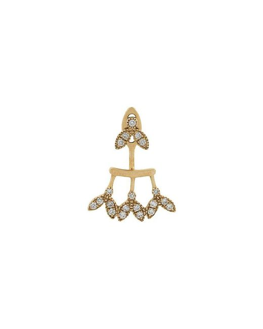Yvonne Léon - Metallic 18kt Gold And Diamond Earring - Lyst