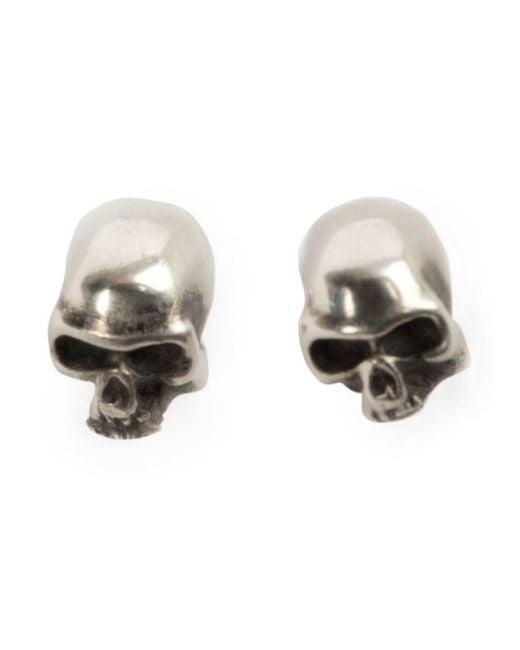 Werkstatt:münchen | Metallic Skull Earrings | Lyst