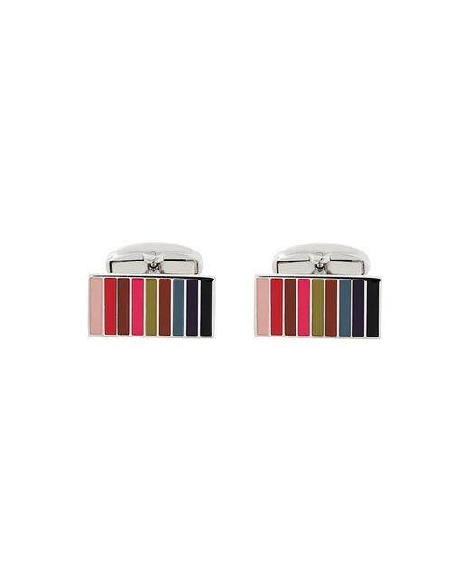 Paul Smith | Metallic Striped Cufflinks for Men | Lyst
