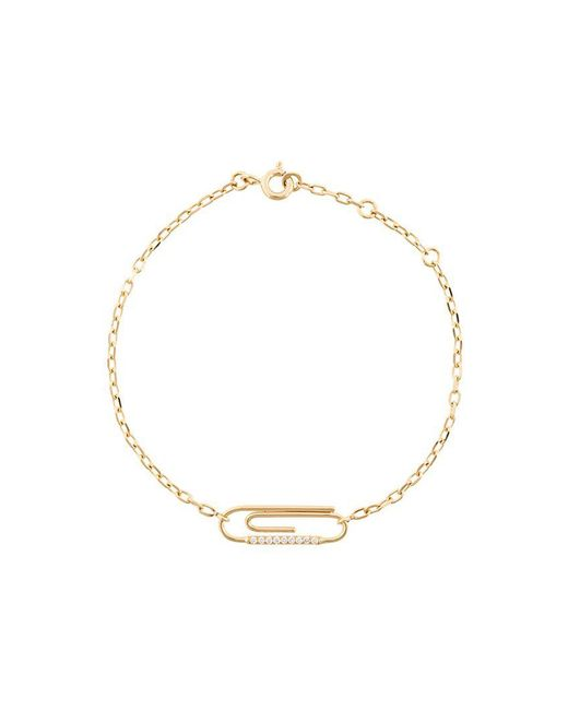 Aurelie Bidermann - Metallic 'paperclip' Diamond Bracelet - Lyst