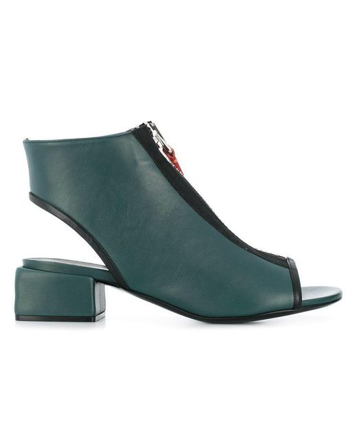 Marni - Green Zipped Open-toe Sandals - Lyst