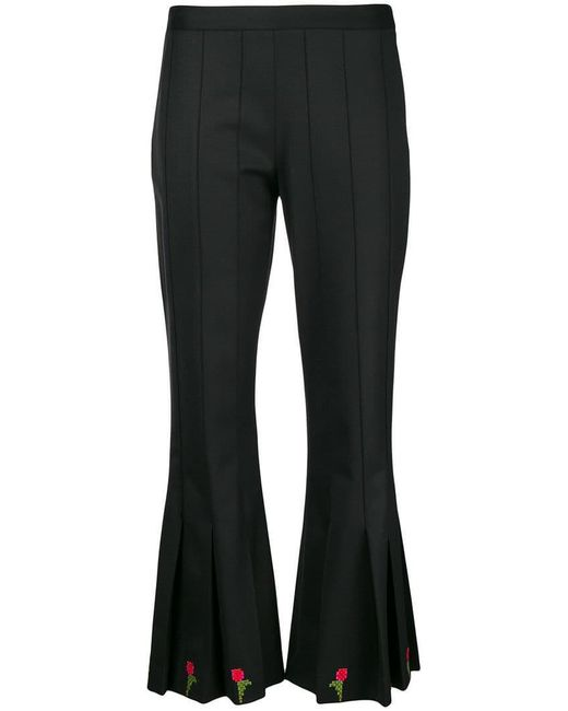 Marco De Vincenzo - Black Cropped Flared Trousers - Lyst