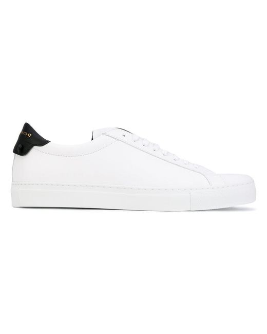 Givenchy - White Contrast Heel Sneakers for Men - Lyst