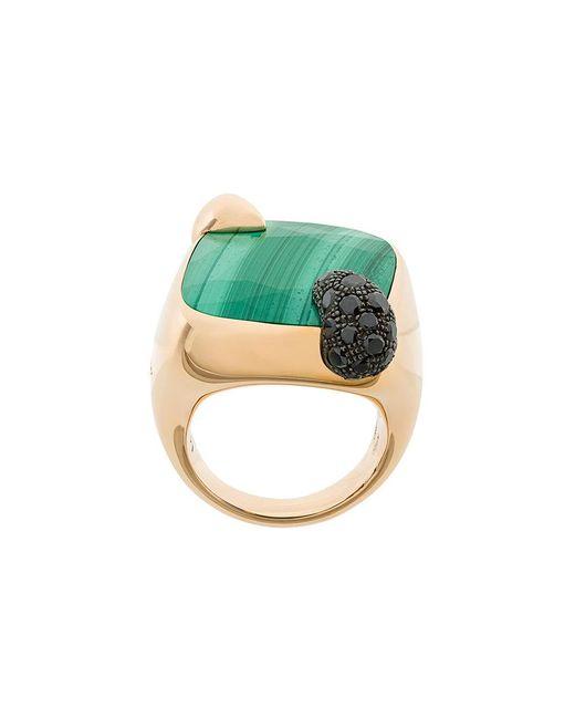 Pomellato - Green 18kt Rose Gold Ritratto Malachite And Black Diamond Ring - Lyst