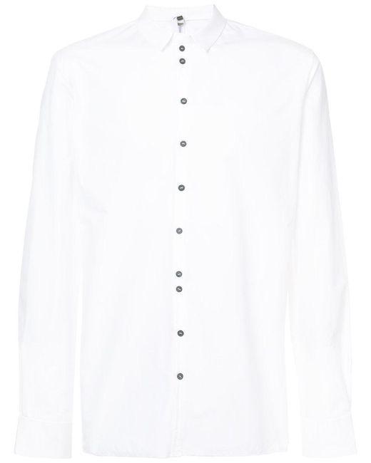 Label Under Construction - White Buttoned Slim-fit Shirt for Men - Lyst