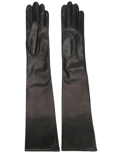 Manokhi - Black Plain Gloves - Lyst