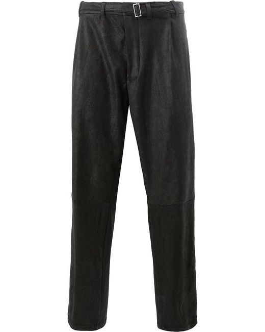 Haider Ackermann - Black Buckled Trousers for Men - Lyst