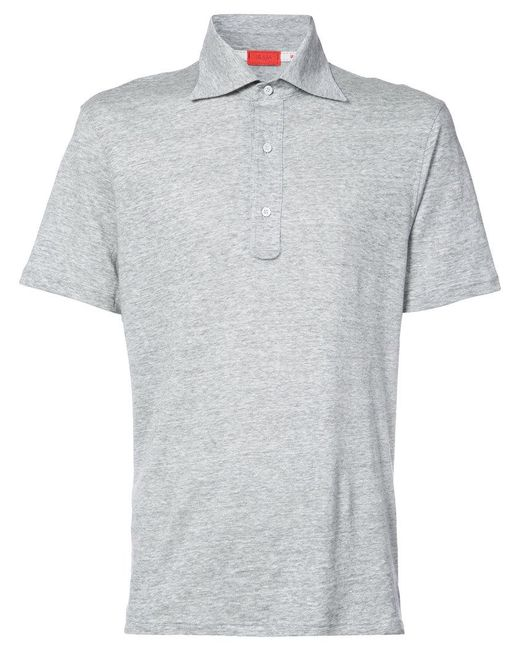 Isaia - Gray Slim Fit Polo Shirt for Men - Lyst