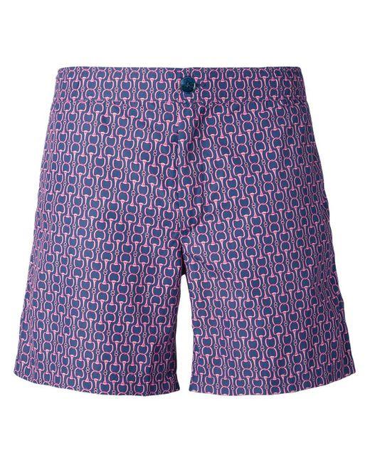 Fashion Clinic Timeless Purple Chain Print Swim Shorts for men