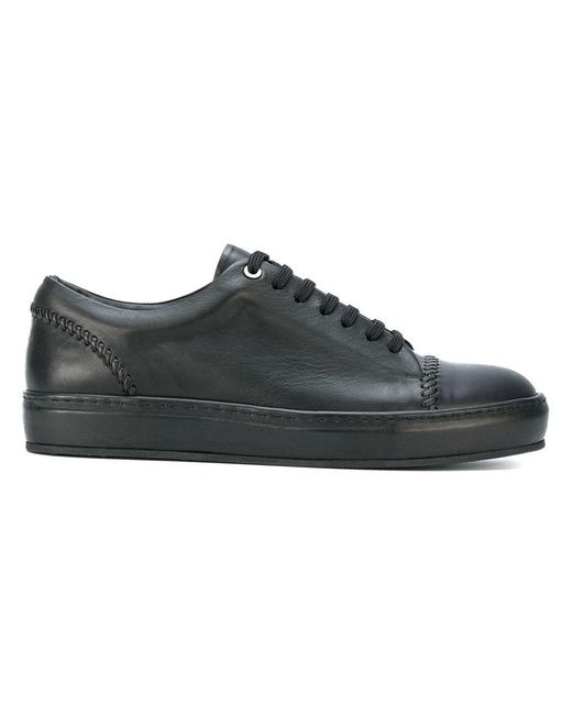 Wooyoungmi | Black Stitching Detail Sneakers for Men | Lyst