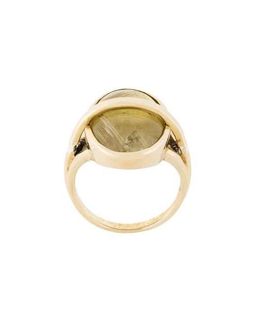 Pamela Love - Metallic Stratum Rutilated Quartz Ring - Lyst