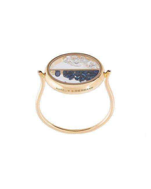 Aurelie Bidermann - Multicolor 'chivoir' Diamond And Sapphire Ring - Lyst