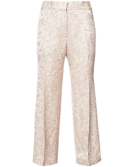 Protagonist - Natural Cropped Tailored Trousers - Lyst