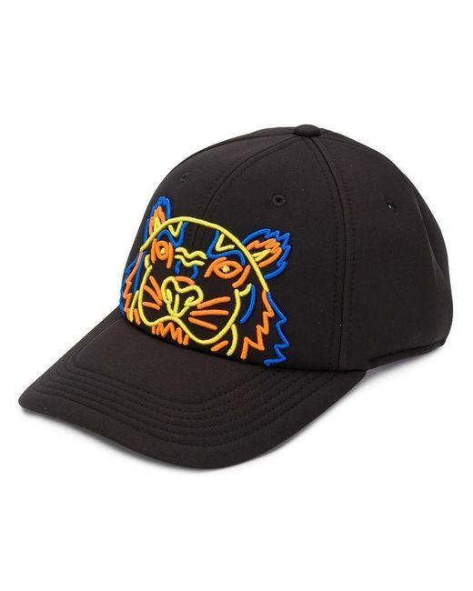 KENZO - Black Tiger Print Baseball Cap for Men - Lyst