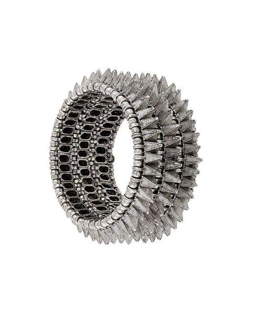 Philippe Audibert - Metallic Elasticated Spike Bracelet - Lyst