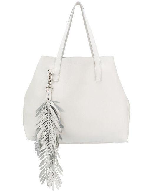 P.A.R.O.S.H. - White Fringed Oversized Shopping Bag - Lyst