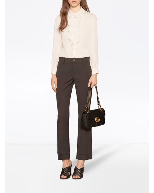 34509e8711f6 Gucci GG Marmont Small Matelassé Shoulder Bag in Black - Save 28% - Lyst