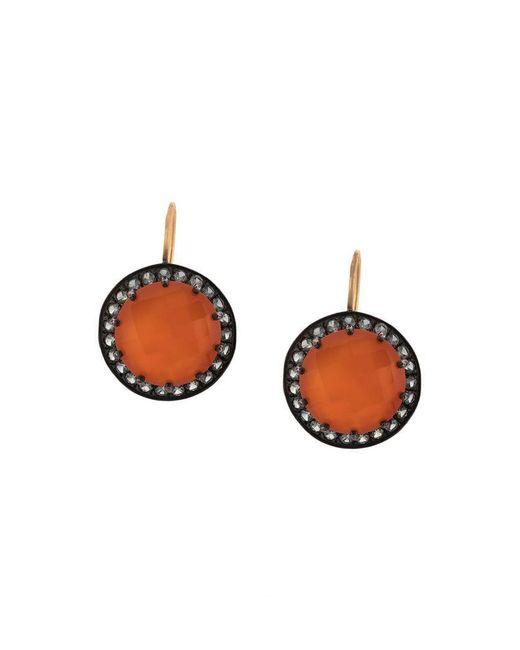 Andrea Fohrman - Gray Carnelian And Grey Sapphire Button Earrings - Lyst