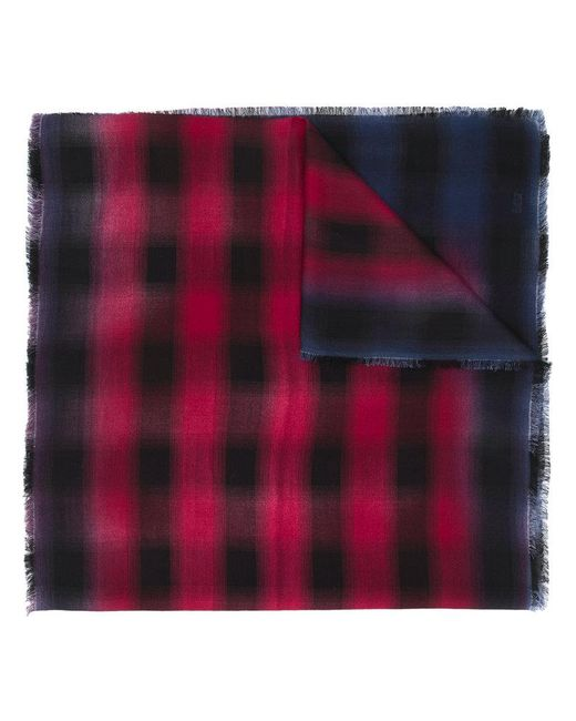 Lanvin - Checkered Scarf for Men - Lyst