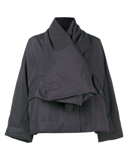 Pleats Please Issey Miyake - Black Scarf Jacket - Lyst