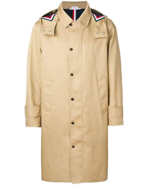 """Thom Browne - Natural Detachable Hood Snap Front Parka (38"""") In Mackintosh for Men - Lyst"""
