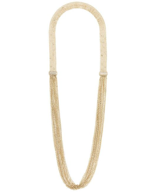 Lanvin - Metallic Long Chain And Fringe Necklace - Lyst