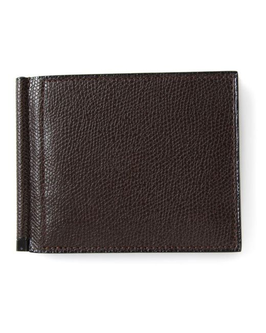 Valextra - Brown - 'simple Grip Spring' Wallet - Men - Calf Leather - One Size for Men - Lyst