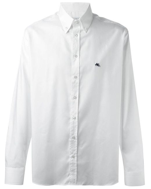 Etro | White Button Down Shirt for Men | Lyst