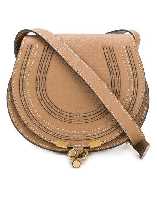 Chloé - Brown Marcie Shoulder Bag - Lyst