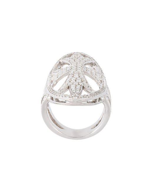 Loree Rodkin - Metallic Oval Gothic Cigar Bank Diamond Ring - Lyst
