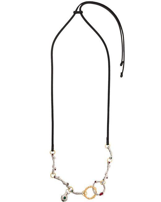 Marni - Black Gemstone Embellished Necklace - Lyst