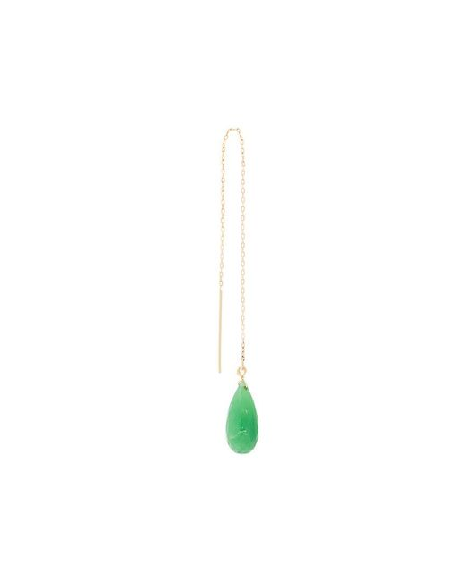 Uzerai Edits - Metallic Chrysoprase Pull-through Earring - Lyst