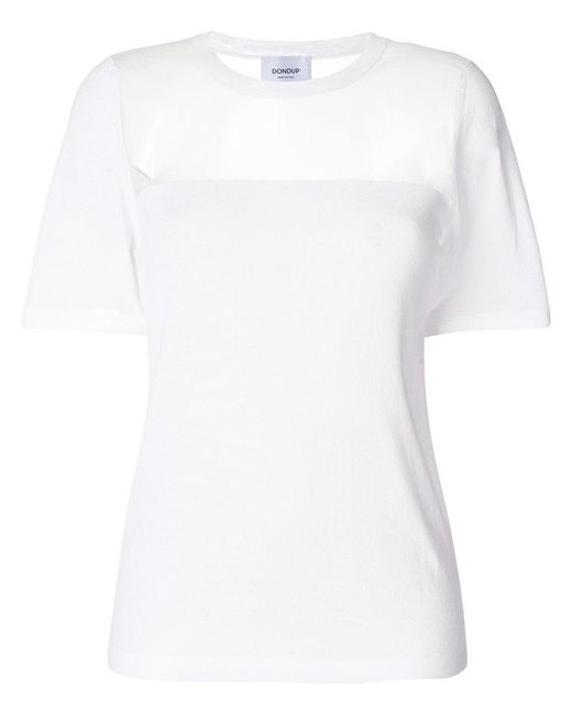 Dondup   White Mesh-panelled Sweater   Lyst