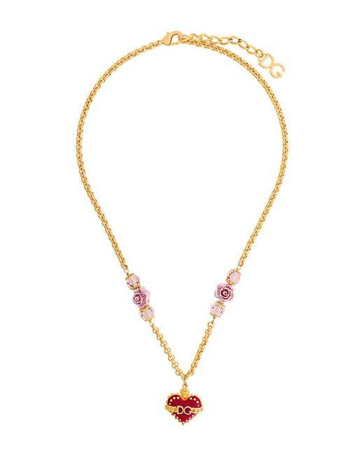 Dolce & Gabbana - Metallic Sacred Heart Pendant Necklace - Lyst