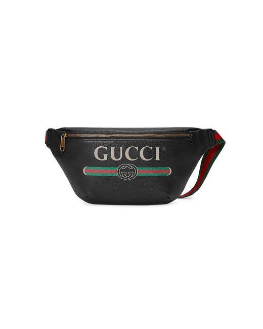 Gucci - Black Riñonera con estampado for Men - Lyst