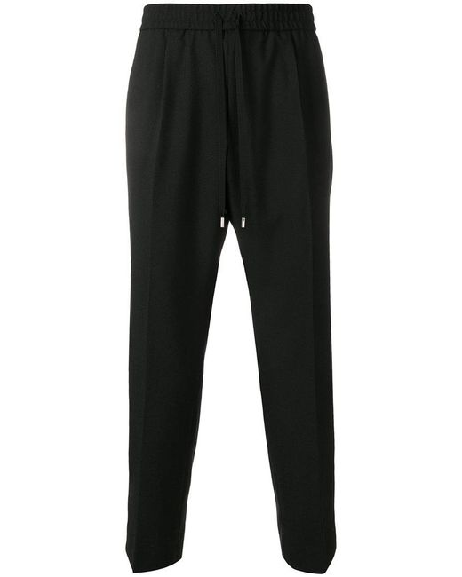 Gucci - Black Drawstring Fitted Trousers for Men - Lyst