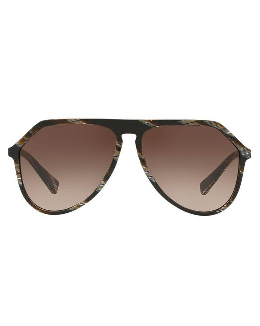 Dolce & Gabbana - Brown Gafas de sol con montura aviador oversize for Men - Lyst