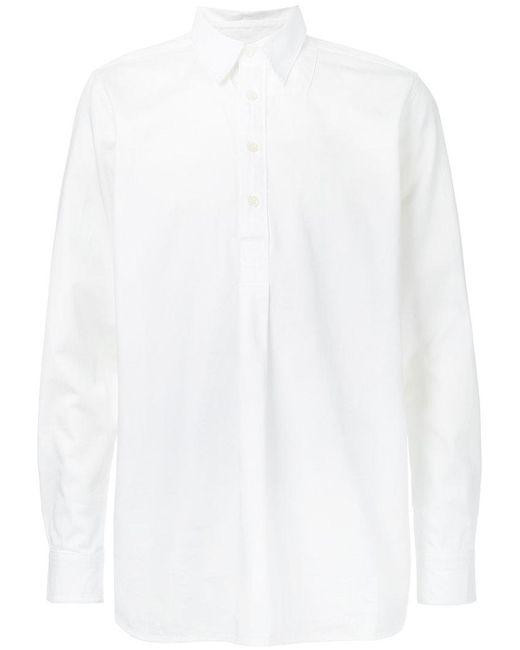 Kent & Curwen | White Half Placket Shirt for Men | Lyst
