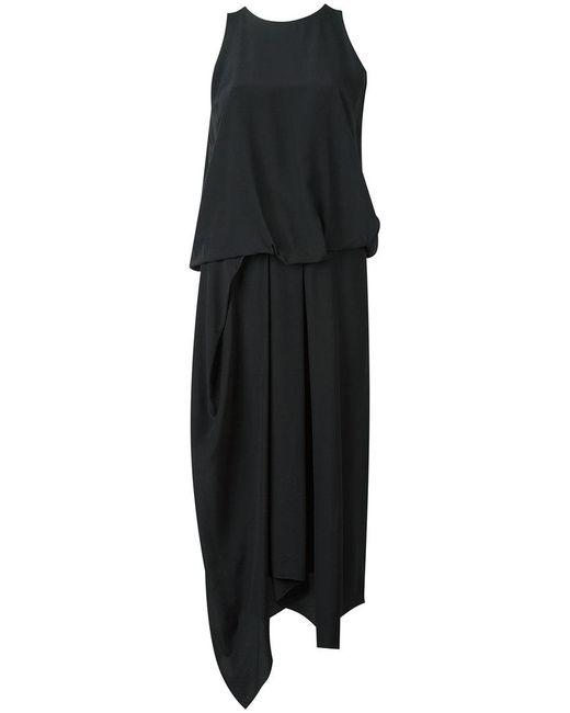 Chalayan - Black Tuck Drape Dress - Lyst