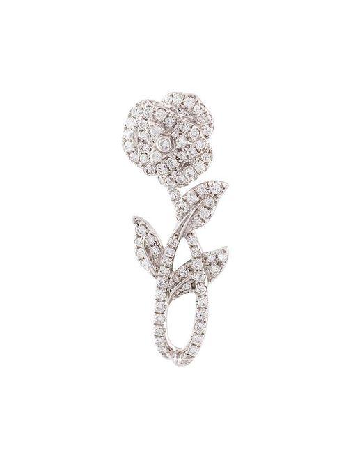 Yvonne Léon   Metallic Rose Stem Diamond Earring   Lyst