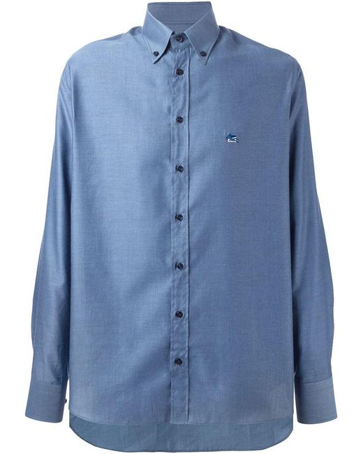 Etro - Blue 'andy' Shirt for Men - Lyst