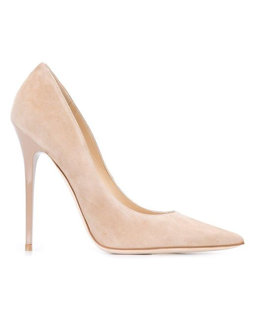 Jimmy Choo - Natural Anouk Suede Pumps - Lyst