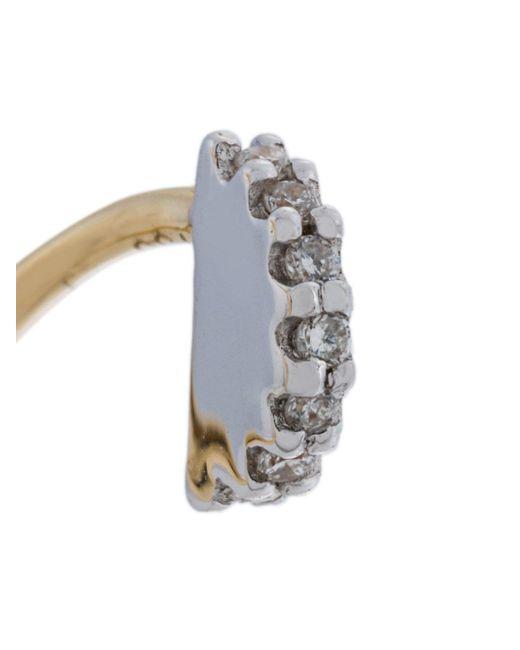 Maria Black Lila Blanc diamond earring (right) - Metallic 0F2t4IPcu