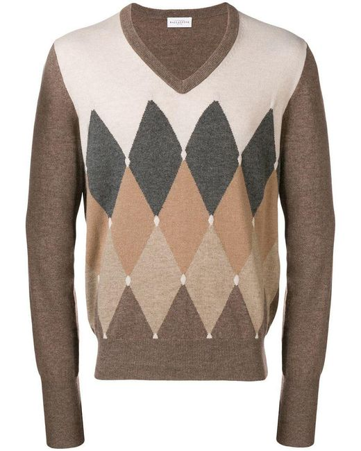 Ballantyne - Multicolor Argyle Knit Sweater for Men - Lyst