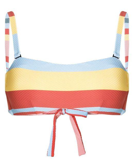 Asceno - Multicolor Striped Bikini Top - Lyst