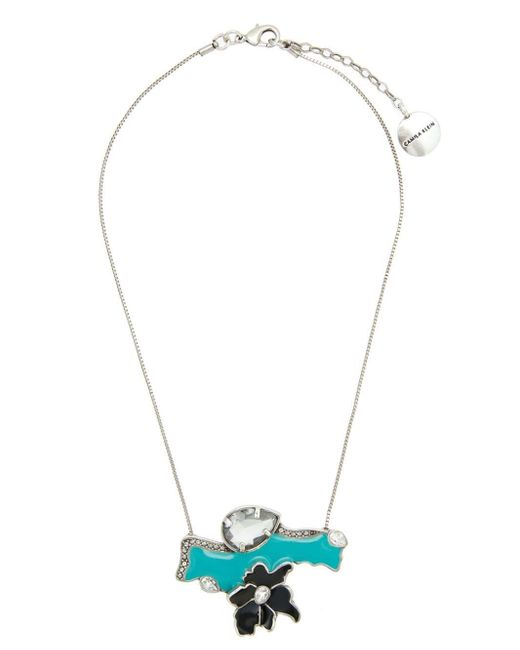 Camila Klein Metallic Enameled Detail Necklace