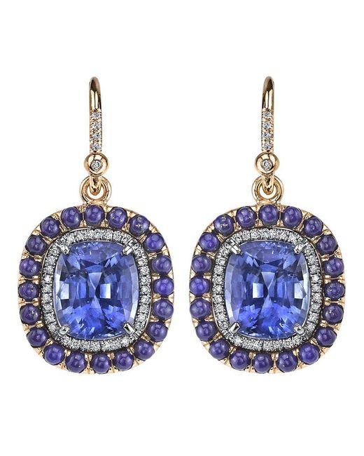 Irene Neuwirth | Blue Sapphire Lapis Earrings | Lyst