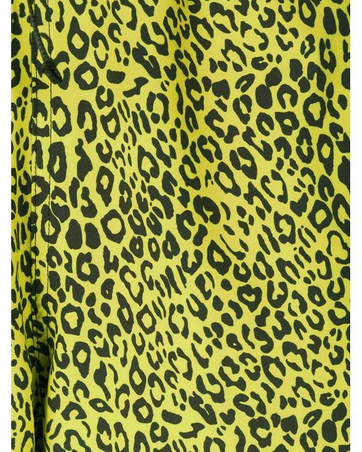 b1731e73b921 ... Amiri - Yellow Leopard Print Swim Shorts for Men - Lyst